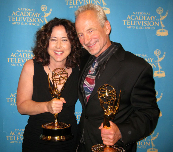 Anne Fox and Frank Matson with their Emmy's