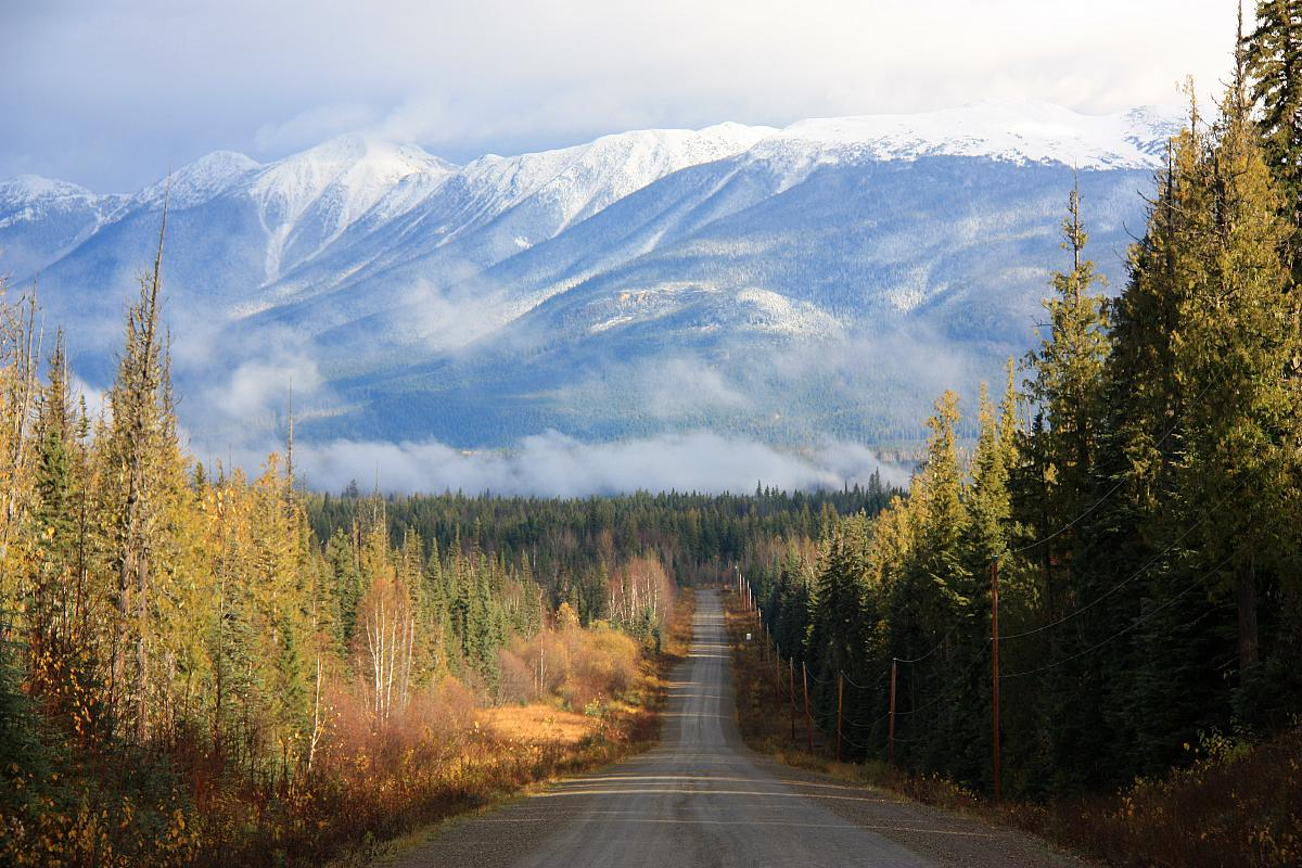 The Road to Crescent Spur - Snow in the Rockies!