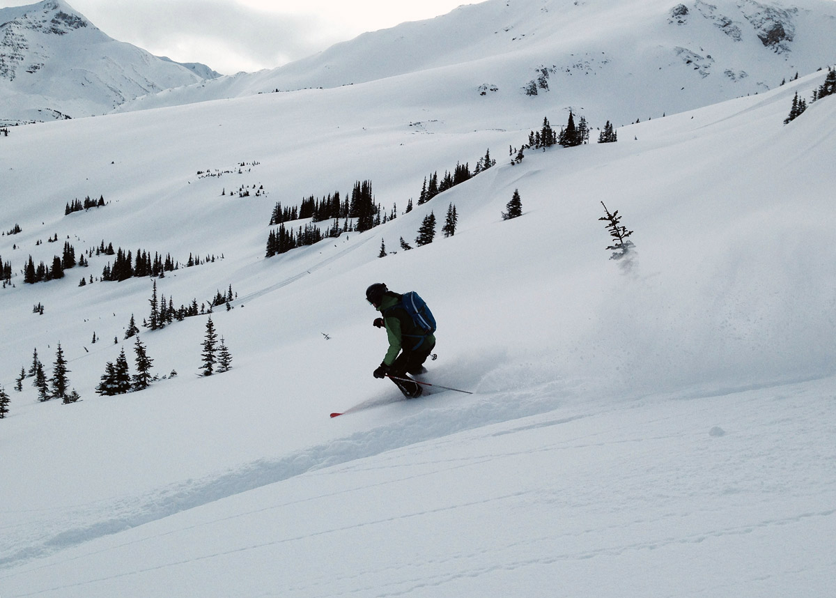 Sweet skiing in the Morkill