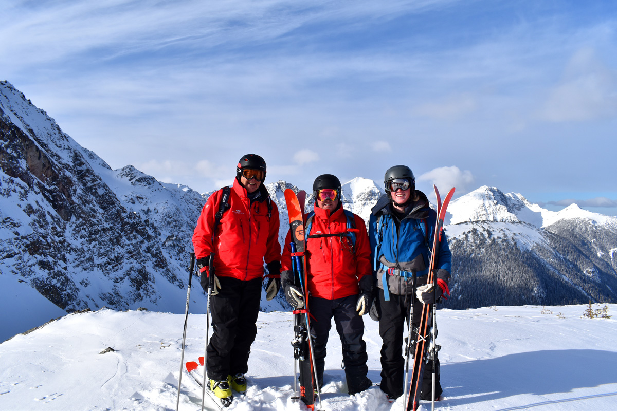 3 Generations of Heli-Skiers